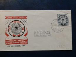 37/818       FDC 1954  AUSTRALIE - Expéditions Antarctiques