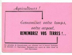 Buvard - Agriculteurs !  Remembrez Vos Terre ! - Agriculture