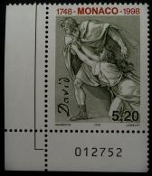 250 EME ANNIVERSAIRE NAISSANCE DU PEINTRE J. L. DAVID 1997 - NEUF ** - YT 2144 - MI 2395 - COIN DE FEUUILLE NUMEROTE - Monaco