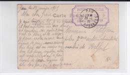 1915 - BASSES PYRENEES - CARTE FM De L´HOPITAL MILITAIRE ANNEXE N° 118 BIS (RARE) De PAU - Guerre De 1914-18