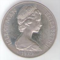 ISLE OF MAN ONE CROWN 1979 AG SILVER MILLENNIUM OF TYNWALD - Monete Regionali