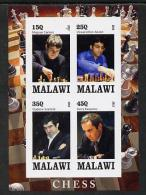 175532 - Malawi 2013 Chess Imperf Sheetlet Containing 4 Values Unmounted Mint - Malawi (1964-...)