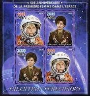 104263 - Madagascar 2013 50th Anniversary Of First Woman In Space Perf Sheetlet Containing 4 Values Unmounted... - Madagascar (1960-...)