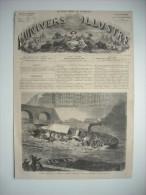 GRAVURE 1864. LYON. ACCIDENT ARRIVE SUR LA SAONE, A BORD DU BATEAU A VAPEUR LA MOUCHE, 10 JUILLET 1864. EXPLICATIF DOS.. - Prints & Engravings