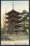 Japan - Pagoda At Nara - Hoshinoya 4 Chrome Postcard - Japan