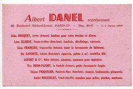 Buvard - Albert Danel - Représentant - Boulevard Richard Lenoir Paris - Buvards, Protège-cahiers Illustrés
