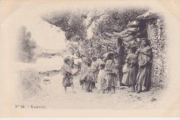 Algérie - Kabylie.- Enfants Kabyle  -  Arnold Vollenweider Photograveur 4 Rue Du Divan Alger - Environs 1900 - Plaatsen