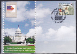 2375. Serbia And Montenegro (Yugoslavia), 2006, Philatelic Exhibition In Washington, Cover - 1992-2003 République Fédérale De Yougoslavie