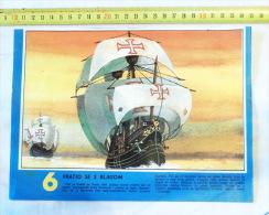 Flagship Of Vasco Da Gama Portugal / Navire Amiral, Caravelle Sailboat, Sailing Ship Volier - Boats
