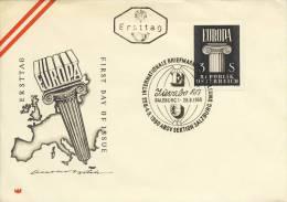 FDC Oostenrijk - 1960 - Blanco / Open Klep - FDC