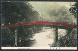 Japan - The Sacred Bridge, Nikko Postcard - Japan