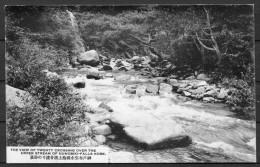 Japan - The View Of Twenty Crossing Over The Upper Stream Of Nunobiki Falls, Kobe Postcard - Kobe