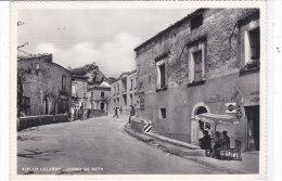 CARD AIELLO CALABRO CORSO DE SETA ANIMATO  POLITICA  COLONNINA  BENZINA  AGIP  (COSENZA) -FG-N-2-0882-18718 - Italien