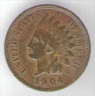 U.S.A. - STATI UNITI D' AMERICA - ONE CENT ( 1904 ) - INDIAN HEAD - Emissioni Federali