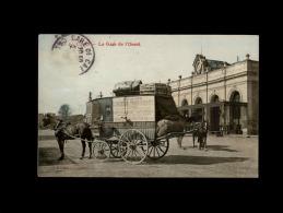 14 - CAEN - La Gare De L'Ouest - Attelage Cheval  - Diligence - Caen