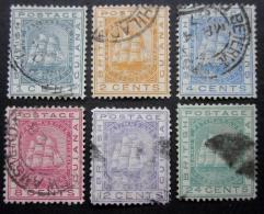 A7047 -British Guiana  - 1876 - Sc. 72-73-74-76-77-78 - Guyana Britannica (...-1966)