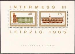 Oost-Duitsland - Block 24 - Internationale Briefmarkenausstellung Der Messestätte INTERMESS III - Xx - 1965 - [6] Oost-Duitsland
