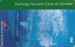 MF54a   LUXE    -    RECHARGE   MONACO  CARTE  DU  MONDE   F1   -   10€   -   Variété  ! - Monaco