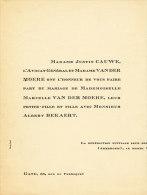 GENT / TORHOUT / FAIRE PART / FAMILIES BEKAERT / ROSSEEL / VAN DER MOERE  / CAUWE - Wedding