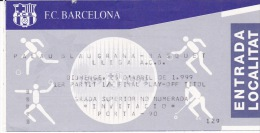 Baloncesto-Barcelona 99- 1º Partido 1/4 Final Play-Off Titol-Lliga A.C.B. - Tickets - Entradas