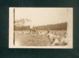 Carte Photo - Felfpost - Hanau - Militaria - Guerre 1914-1918 - Soldats Allemands Creusant Une Tranchée Censure Haguenau - Hanau
