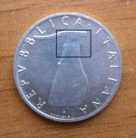 5 LIRE DELFINO DEL 1977 - CON DIFETTO DI CONIO - - 1946-… : Republic