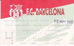 Hoquei-F.C.BARCELONA--C.H .MATARO-Liga Division De Honor-98 - Tickets - Entradas