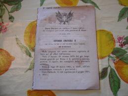 CONSIGLIERI PROVINCIALI NELLA PROVINCIA DI ROMA CIVITAVECCHIA TOLAFA ALATRI VEROLI   VITTORIO EMANUELE II 1877 - Wetten & Decreten