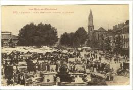 Carte Postale Ancienne Tarbes - Place Marcadieu Pendant Le Marché - Commerces - Tarbes
