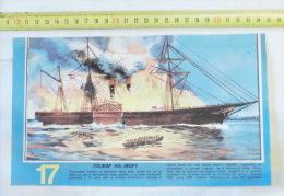 "BURNING OF THE STEAMSHIP ""GOLDEN GATE"" 1862 / Steamer Bateau à Vapeur, Navire Sailboat Sailing Ship Ships Volier Navy - Boats"