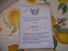 SCUOLE MAGISTRALI RURALI NELLE DIVERSE PROVINCIE DEL REGNO  REGIO DECRETO UMBERTO I1879 - Decrees & Laws