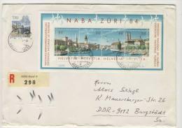 Schweiz Block 24 auf Brief