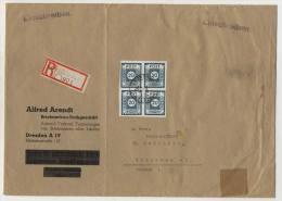 Ost Sachsen Michel No. 48 A Viererblock auf Brief