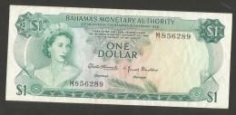 [NC] BAHAMAS MONETARY AUTHORITY - 1 DOLLAR (1968) Elizabeth II - Bahamas