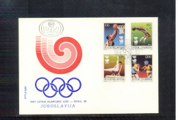 Yugoslawien / Yugoslavia / Yougoslavie 1988 Seoul Set FDC - Summer 1988: Seoul