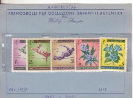 Sport-Salti-Jumps-Sauts-Fiori-Flowers-Fleurs-Afghanistan 1962-Yvert 675/9-New - Salto