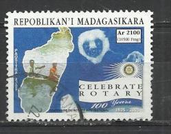 MADAGASCAR 2005 - ROTARY CENTENARY - USED OBLITERE GESTEMPELT USADO - Rotary, Lions Club
