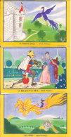 LOT  DE TROIS BUVARDS    VOIR   PHOTOS   LA BELLE ET LA  BETE - Buvards, Protège-cahiers Illustrés