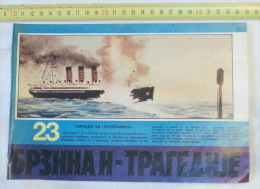 LUSITANIA British Steamship Torpedoed By A German U-boat / Steam Ship, Steamer Bateau Vapeur, Navire Sailing Ships - Boats