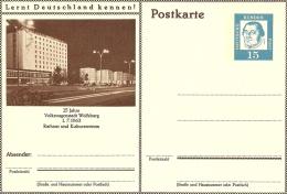 Bildpostkart  25 Jahre Volkswagen Stadt Wolfsburg 1-7-1963 Rathaus   Mint - Transportmiddelen