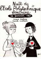 CPM AFFICHE DE PEYNET NUIT DE L ECOLE POLYTECHNIQUE FEMININE 1965   CENTRE AFFICHE CP TOULOUSE - Peynet