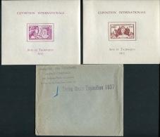 SERIE COMPLETE DES 24 BLOCS FEUILLETS DE L'EXPOSITION INTERNATIONALE DE 1937, AVEC SON ENVELOPPE - LUXE - 1937 Exposition Internationale De Paris