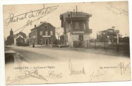 Belgique - Cheratte La Gare Et L´Eglisse - Edition Rikin -Rissack - - Andere