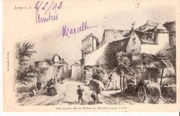 Langres (Haute-Marne)-1902-Les Abords De La Porte Du Marché Avant 1853-Dessin-Edit. Paul Mongin, Libraire - Langres
