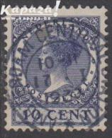 1929 - NEDERLAND - Michel 222 - Wilhelmina (1880-1962) + AMSTERDAM CENTRUM - Period 1891-1948 (Wilhelmina)