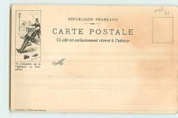 ART NOUVEAU Publicité ABSINTHE Capmartin N°42 , épilepsie En Bouteille - Château De Fénélon - Précurseur En BE - 3 Scans - Advertising