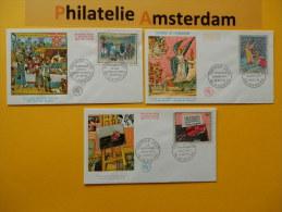 France 1963, FDC OEUVRES D'ART KUNSTWERKEN BERRY APOCALYPSE DUFY: Mi 1523, 1527, 1529, Y&T 1457-59, - FDC