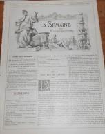 La Semaine Des Constructeurs. N°11. 6 Septembre 1890. Hôtel De Ville De Mormant. Tramway Funiculaire De Belleville. - Magazines - Before 1900
