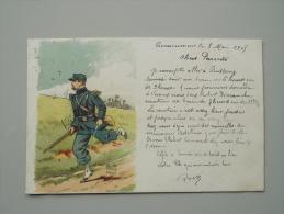 CPA MILITARIA PATRIOTIQUE SOLDAT POILUS 1905 RECTO VERSO - Heimat
