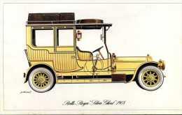 """Marque Rolls Royce """" Silver Ghost """" 1908 - Illustrateur : P. Dumont - (11,5 Cm X 18,5 Cm) - Voitures"""